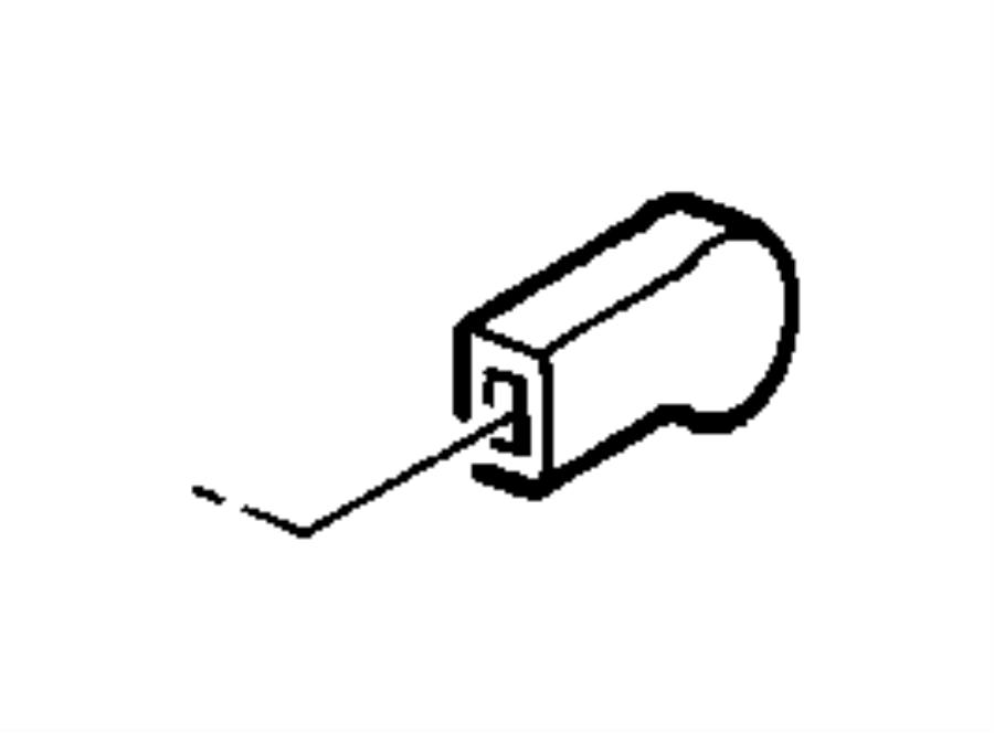 Jeep Wrangler Knob. Seat recliner. Knob, recliner fold