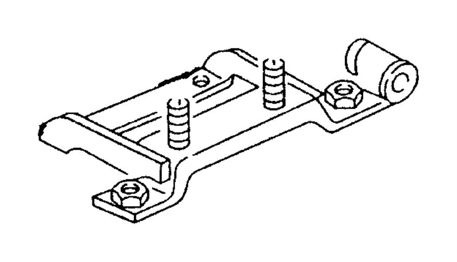 Dodge Ram 1500 Bracket. Manual transmission. Transmission