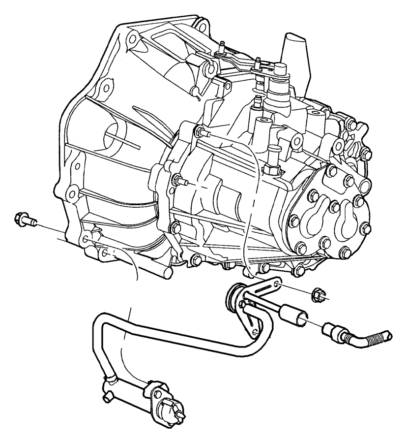 2013 Dodge Dart Actuator, cylinder. Clutch slave