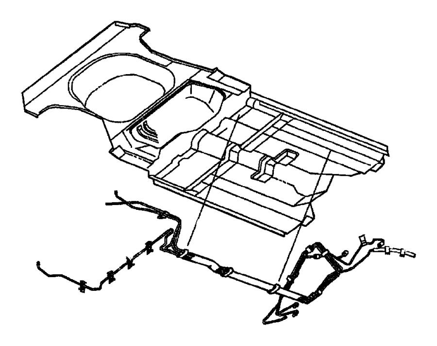 2001 Chrysler Pt Cruiser Clip. Fuel tube, tube. Mounting