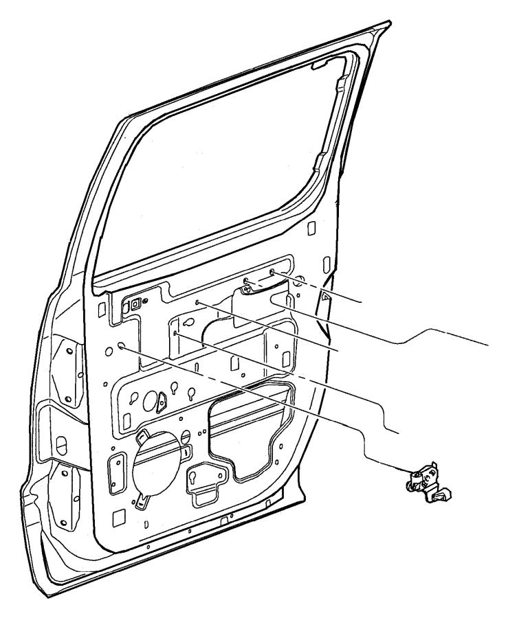 2001 Dodge Dakota Door, Rear Lock and Controls.