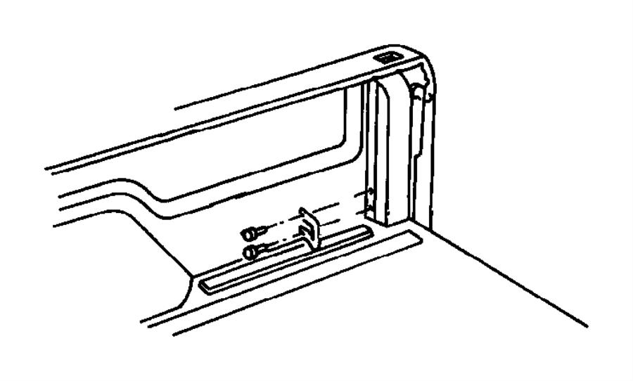 2000 Dodge Ram 1500 Striker. Lower, rear. Door latch