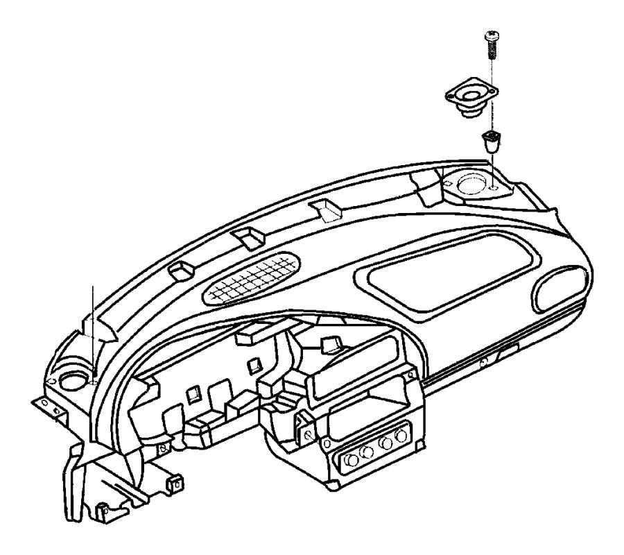 Jeep Cherokee Clip, nut. Push, snap in. 164-7.5. Bin