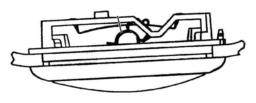 Dodge Dakota Bulb. 578. Dome lamp, export, grab handle