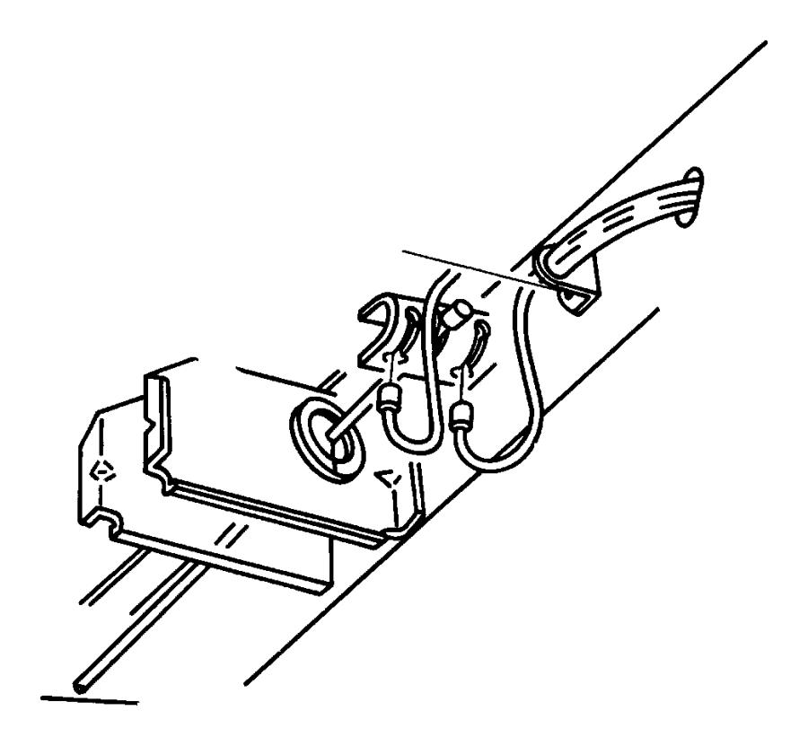 Dodge Grand Caravan Equalizer. Parking brake cable