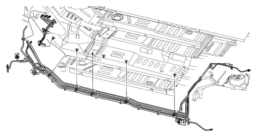 Chrysler Sebring Tube. Fuel supply. Engine, fuel lines to