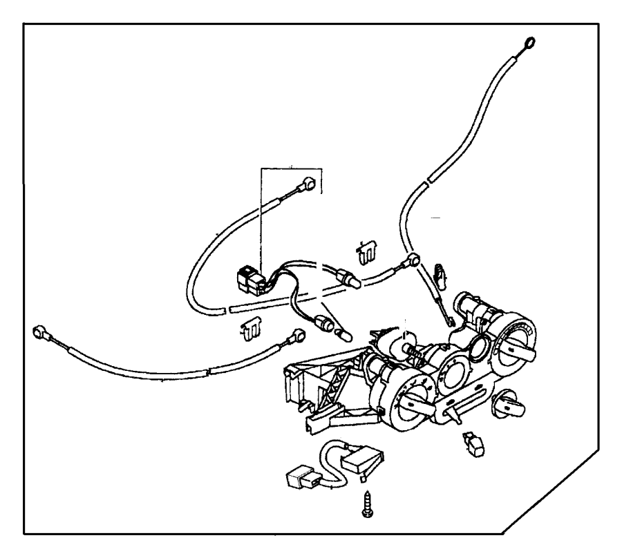 Dodge Caliber Cable. A/c and heater control. Mode, wire