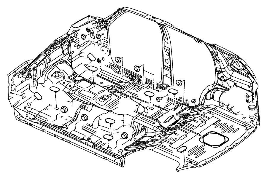 Dodge Charger Plug Body 75 Diameter Pillar Rear Floor