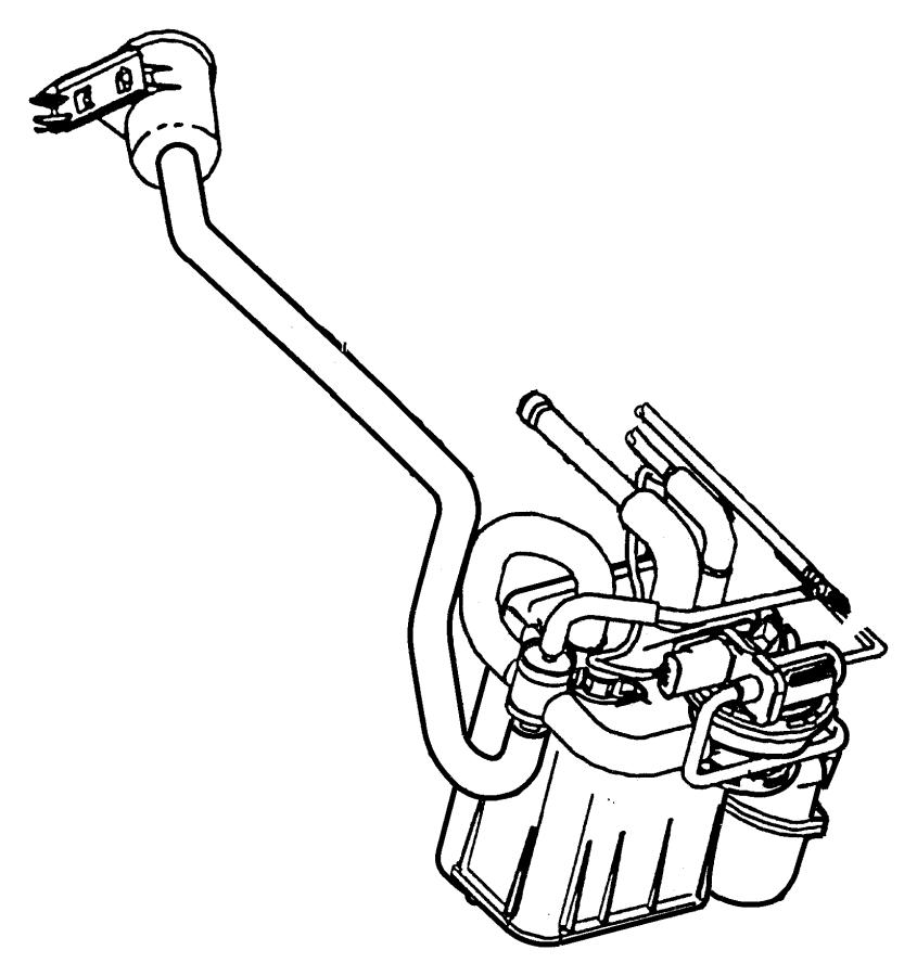 Chrysler Concorde Vapor Canister and Leak Detection Pump.