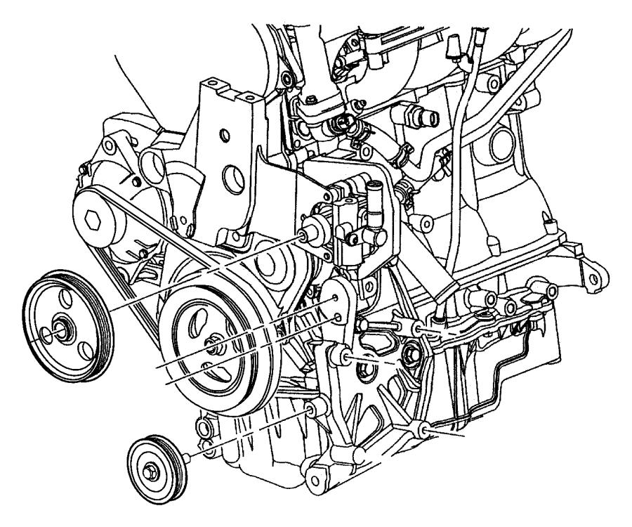 Dodge Neon Pulley. Power steering pump. Pinionsteering