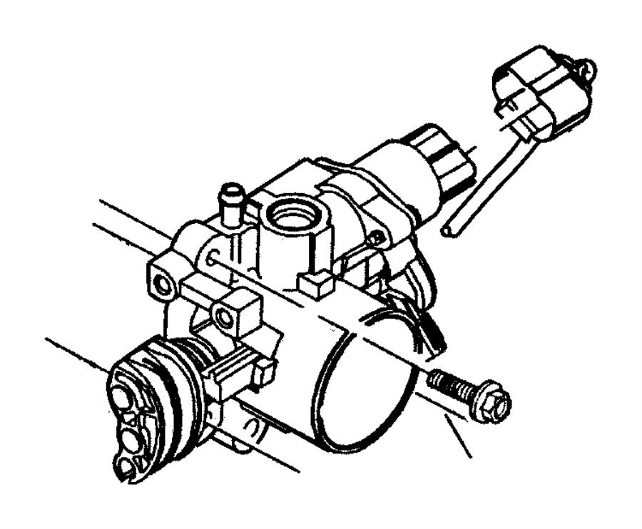 2001 Chrysler Sebring Motor, throttle body. A.i.s., air