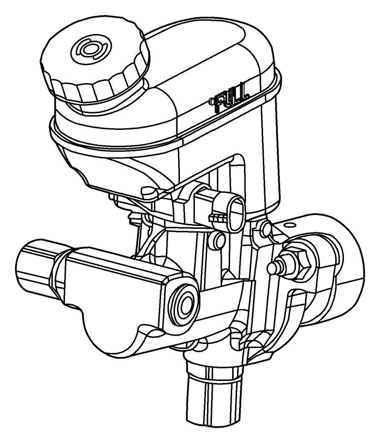 2001 Chrysler Pt Cruiser Reservoir. Brake master cylinder