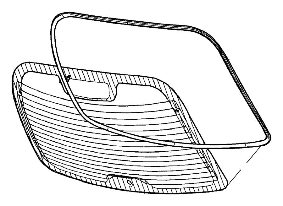 2001 Chrysler Pt Cruiser Grommet. Glass, wiper motor and