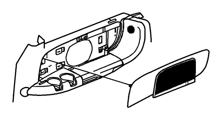 Dodge Grand Caravan Panel. Left. Quarter trim. [t5]. Trim