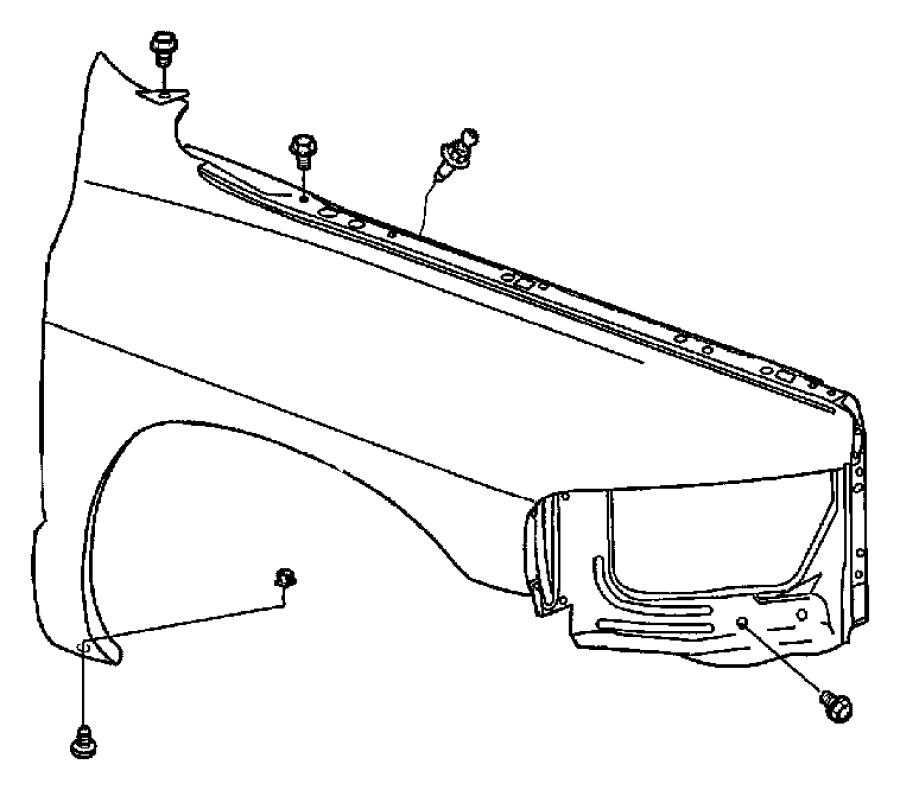 Dodge Ram 1500 Front Fender.