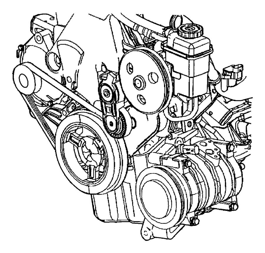 Dodge Neon Tensioner and bracket. Engine mount
