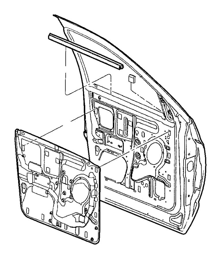 2004 Dodge Ram 2500 Weatherstrip. Door belt. Used for