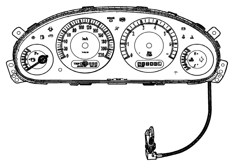 Dodge Ram 1500 Lens. Instrument cluster