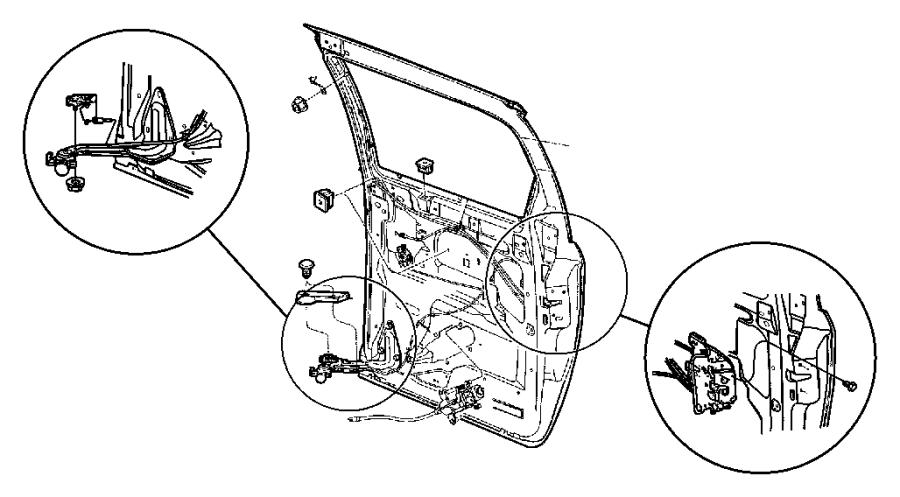 2006 Dodge Grand Caravan Cable. Sliding door release
