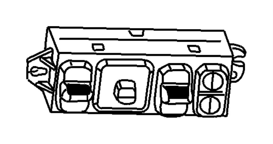 2001 Dodge Ram 1500 Switch. Power seat. Trim: [hd vinyl 40