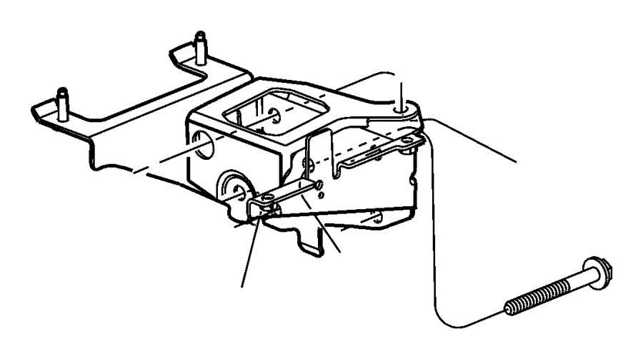Dodge Neon Support. Bracket. Engine mount. Sideleft