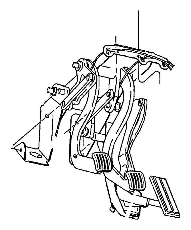 Dodge Ram 2500 Clip. Brake booster push rod, brake pedal