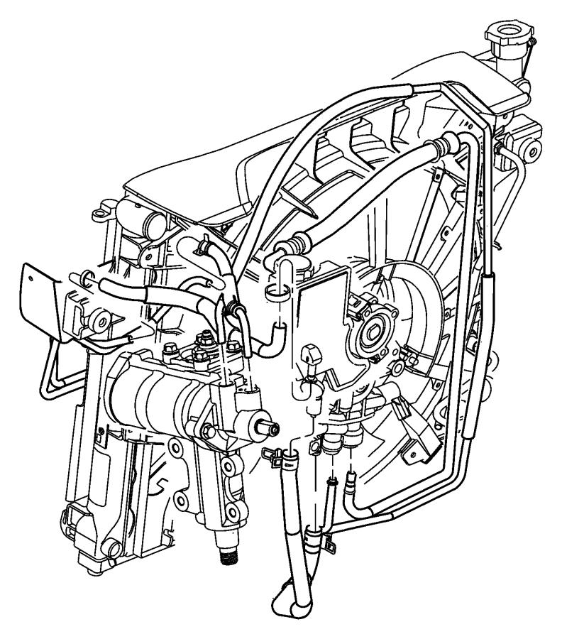 Jeep Grand Cherokee Hose, hose package. Hydraulic fan