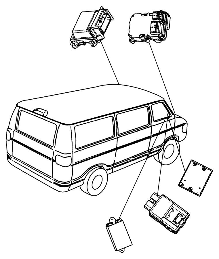 Dodge Ram 2500 Module. Daytime running lamp