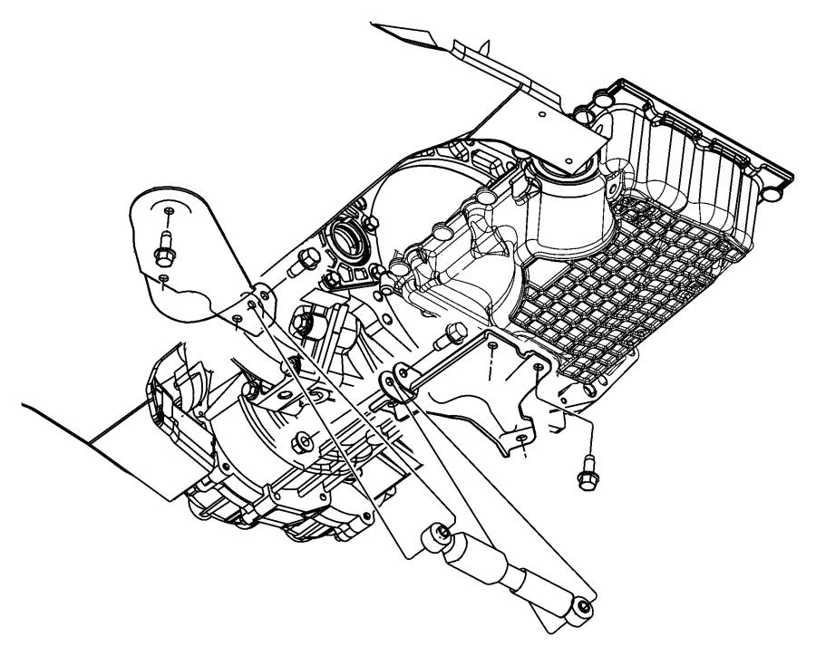 2004 Chrysler Sebring Transmission Damper & Lower Collar.