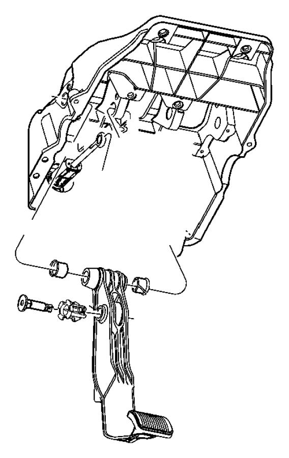 Dodge Ram 1500 Bushing. Brake pedal, pedal shaft