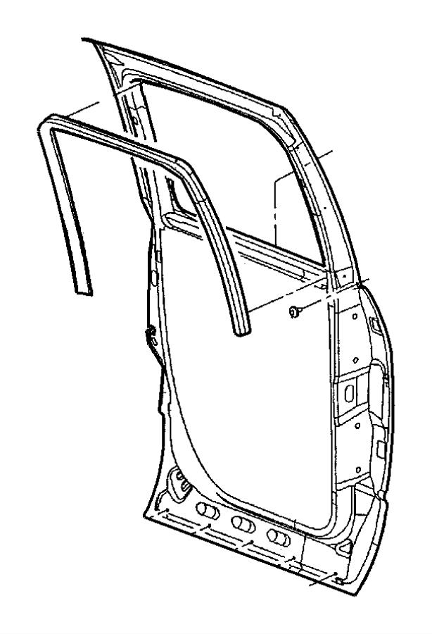 2003 Dodge Ram 2500 Weatherstrip. Door belt. Left. After 1