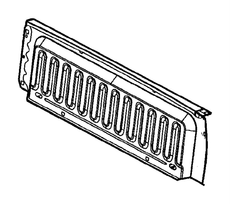 Dodge Ram 1500 Exhauster. Bodyside aperture. [pickup box