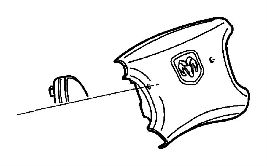 Dodge Ram 2500 Air bag, clockspring, cover. Driver side