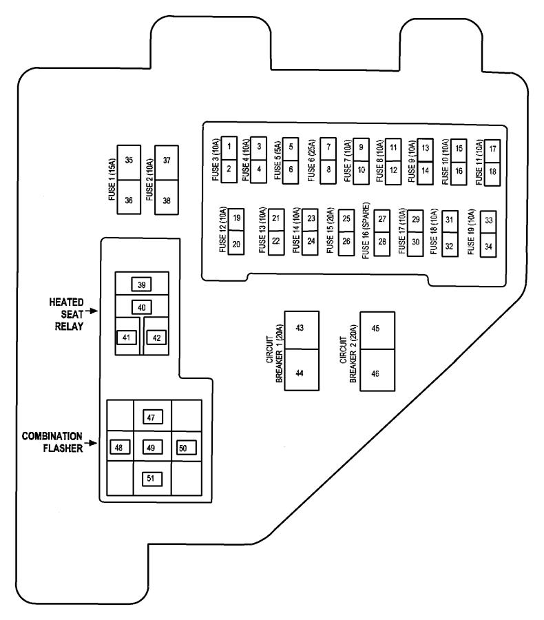 1999 Dodge Ram 3500 Junction block. Relay. Frontouter