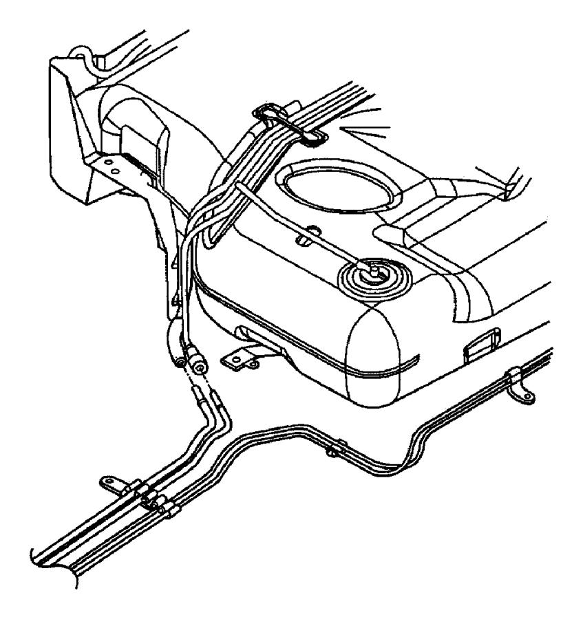 2002 Chrysler Concorde Clip. Fuel line. Fuel/brake bundle