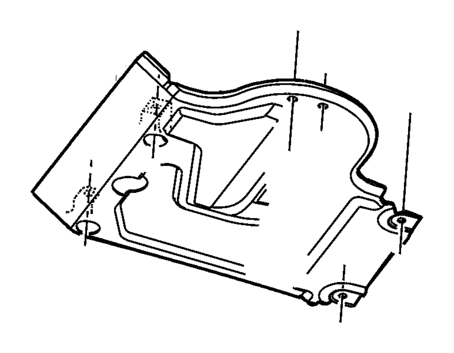 Dodge Avenger Plate, skid plate. Front. Ckdthailand