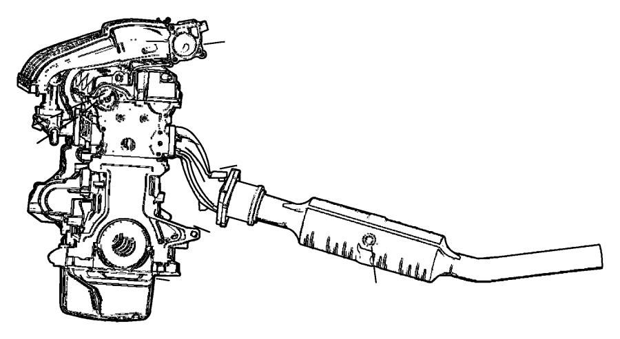 Chrysler Crossfire Sensors Engine.