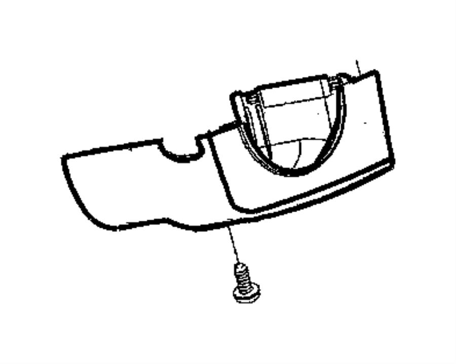 Chrysler 300 Shroud. Steering column. Manual transmission
