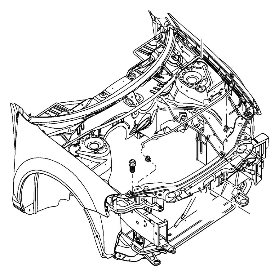 Dodge Dakota Clip. Cable, hood latch release. Hood latch