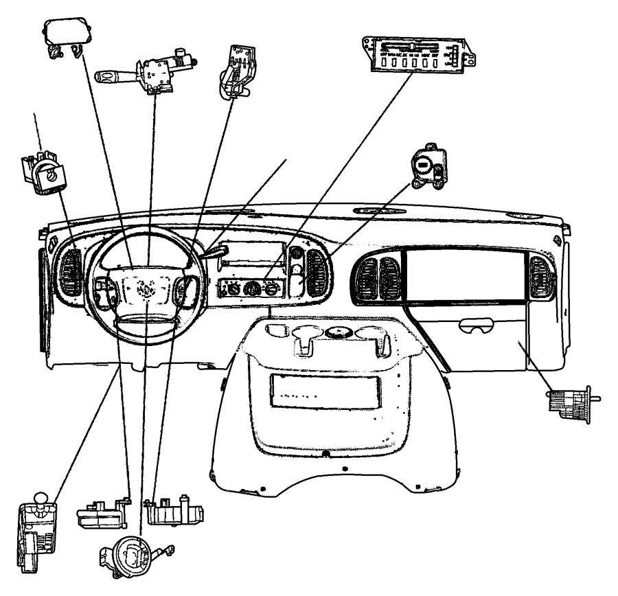 Dodge Ram 1500 Switch. Ignition. Intermittentsteering