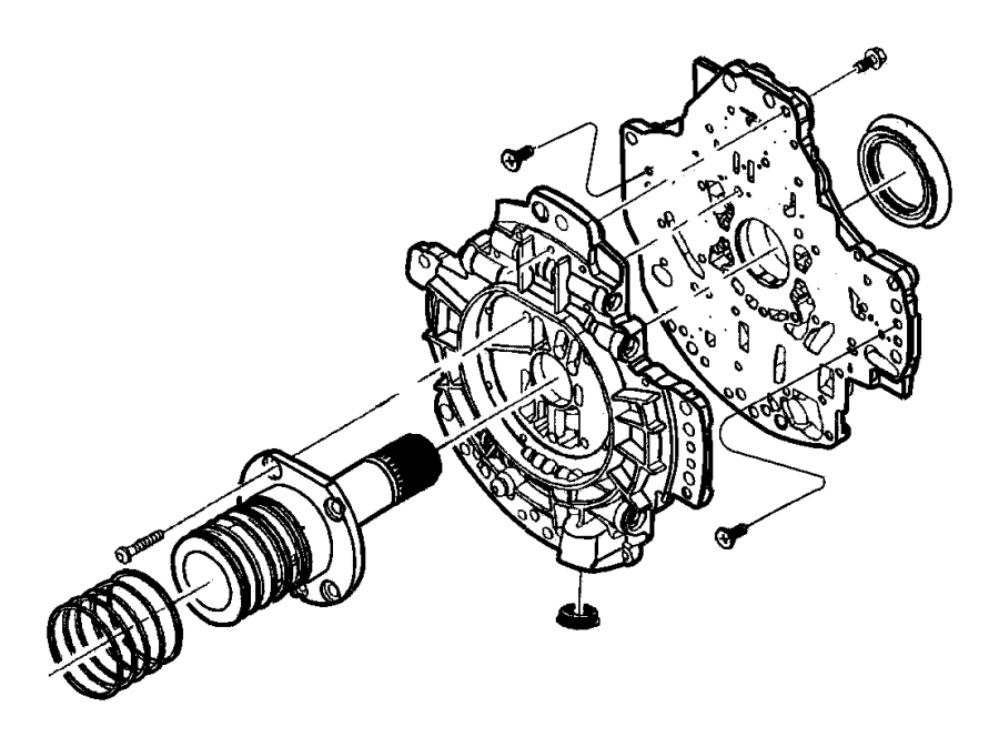 2009 Chrysler Aspen Oil Pump and Related Parts.
