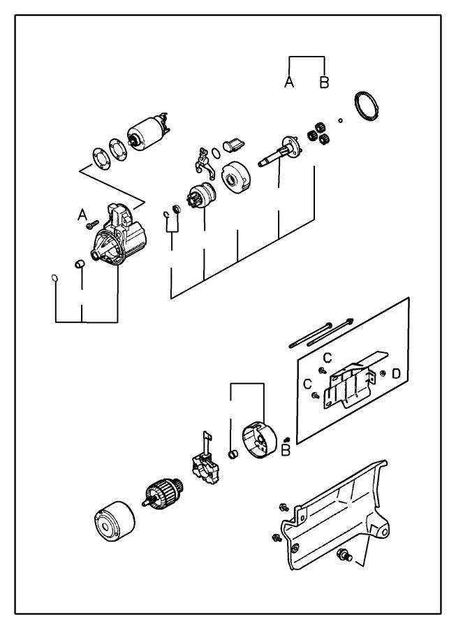 Dodge Stratus Screw. Inner. Set. Startermanual, pkq
