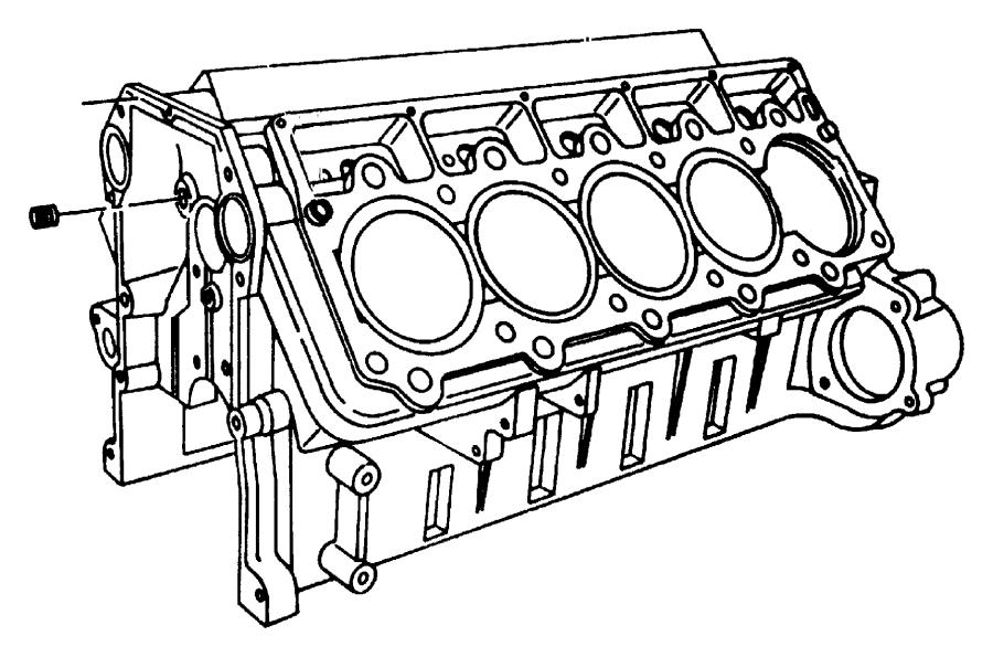 Jeep Cherokee Dowel, dowel pin. Locator, oil pump. 620dx