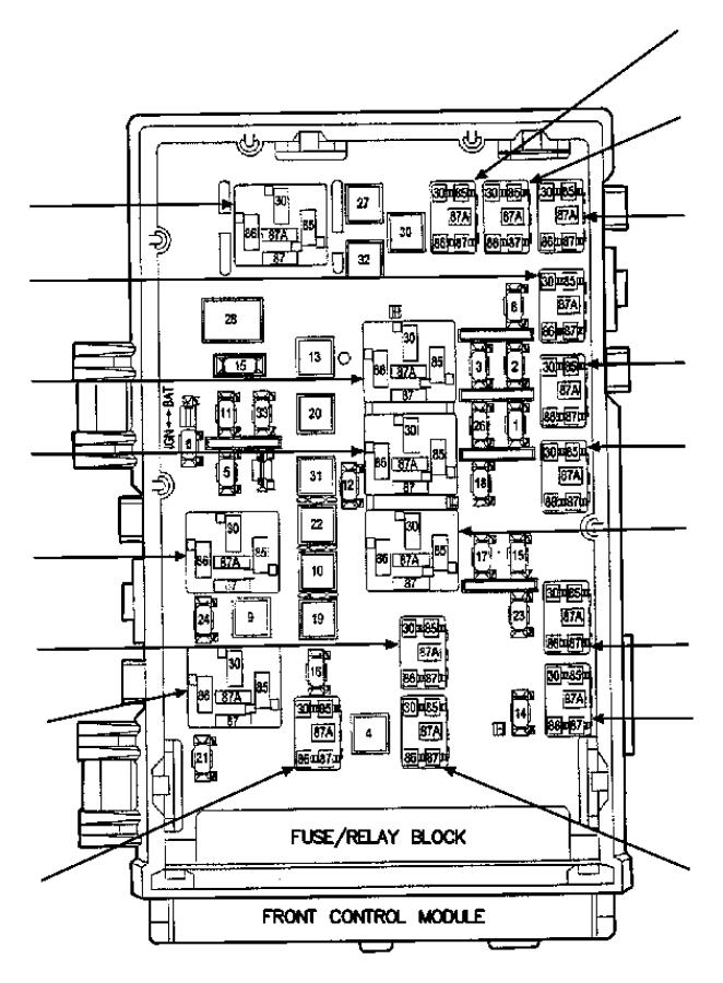 Dodge Ram 1500 Power distribution center. Infinityfog