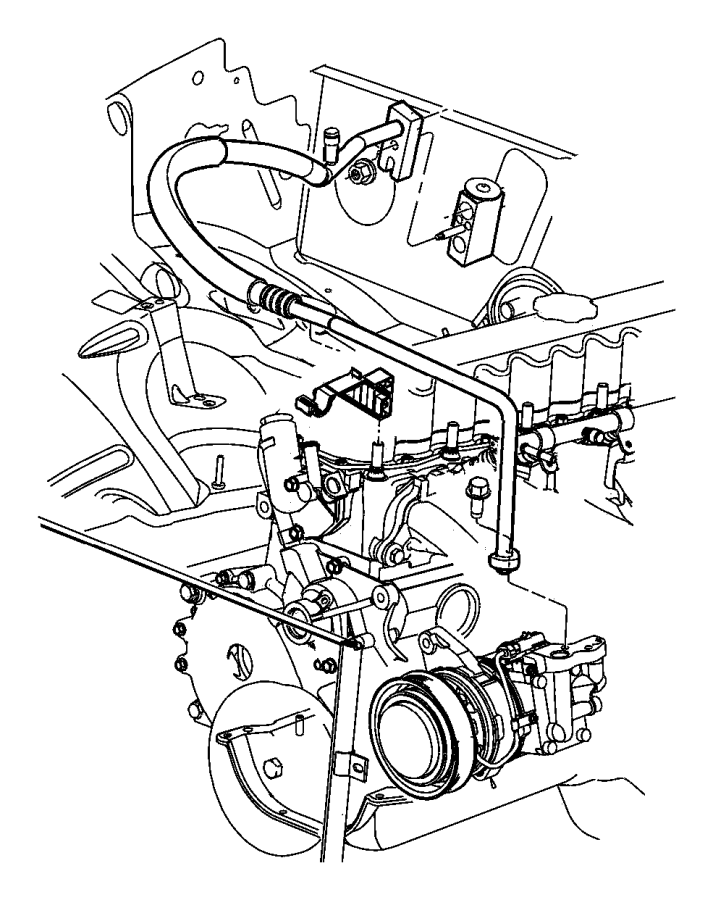 Accumulator, Condenser and Lines 4.0L Engines.