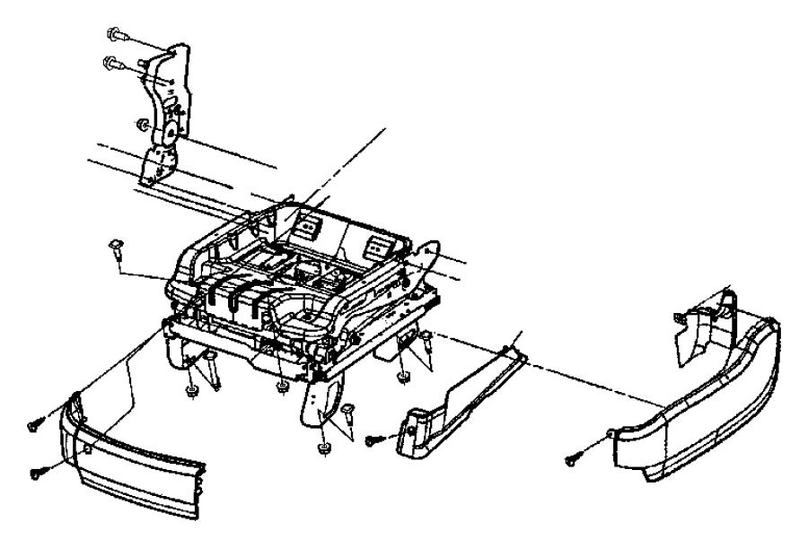Chrysler Pacifica Motor. Seat recliner. Power seat. Trim