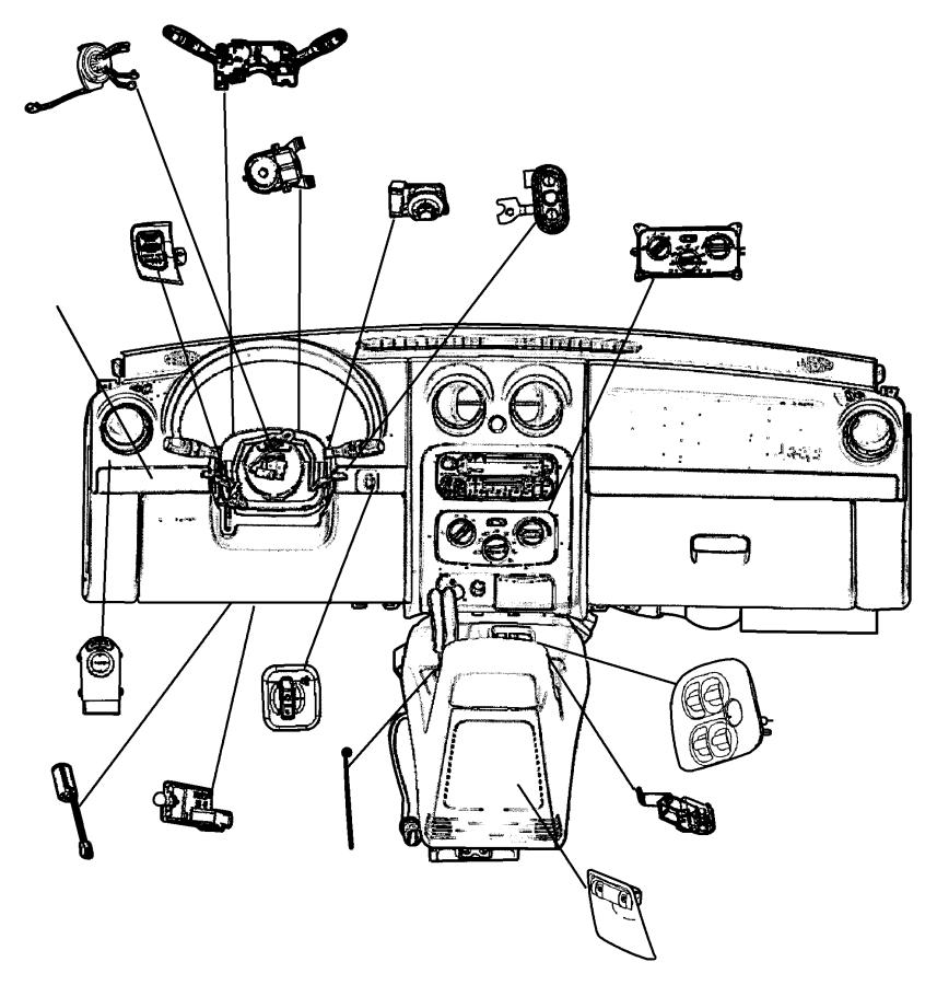 Dodge Ram 2500 Switch. Remote radio, steering wheel remote