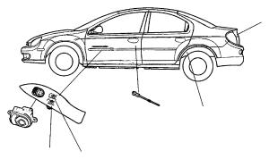 Dodge Stratus Bezel Driver, driver side, left Power window switch Trim: (*o0)color