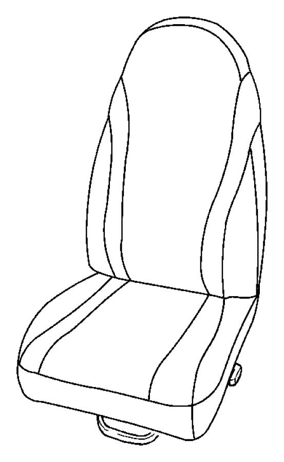 Dodge Dakota Cushion, foam. Driver, left, power seat