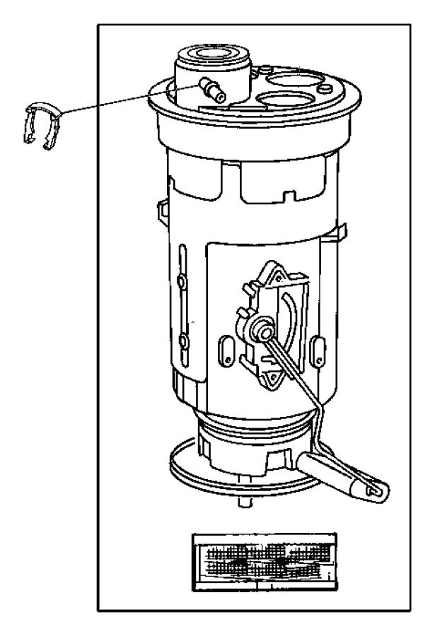 Dodge Dakota Filter kit, strainer. Inlet. Fuel, fuel pump